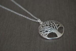 Collar colgante árbol de la vida plata 925