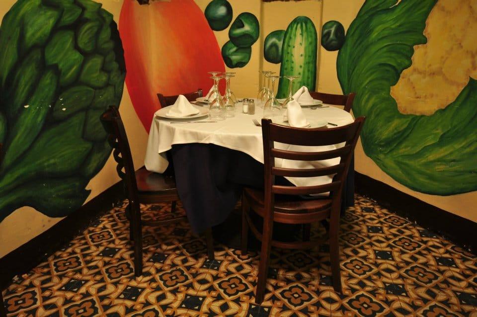 Mesa del restaurante en sabadell