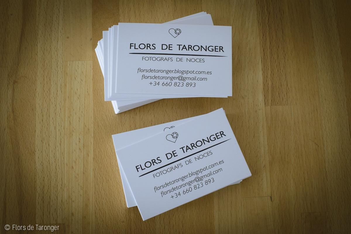 Flors de Taronger Tarjetas presentacion Fotografos