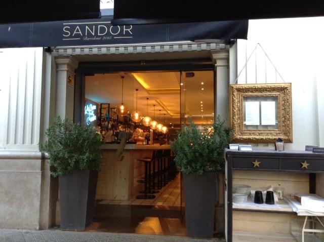 entrada tapas restaurante sandor