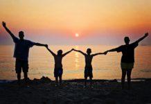 familia viajando al caribe