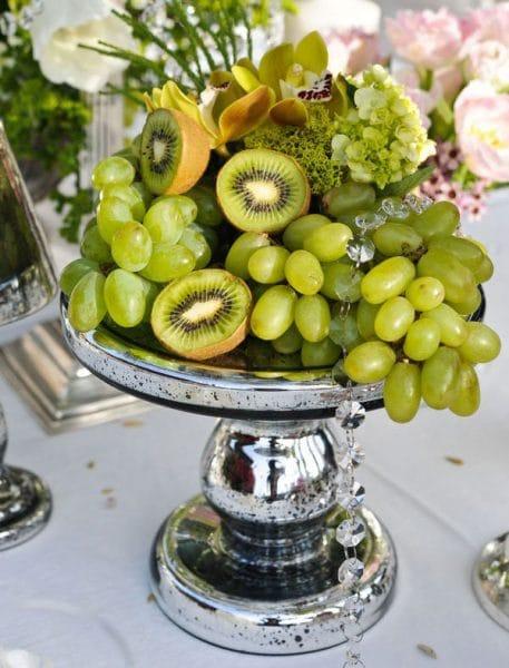 Frutas y Verduras como Centros de Mesa