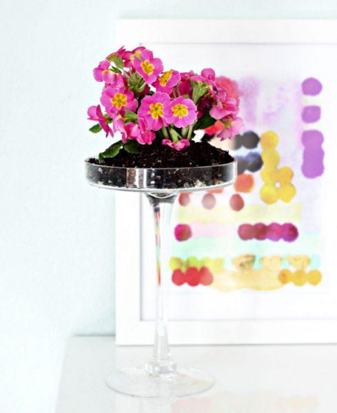 Plantas como decoración en centros de mesas