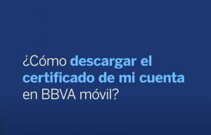 Certificado de Titularidad Bancaria BBVA