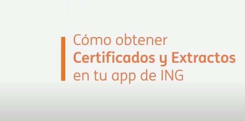 Certificado de Titularidad Bancaria ING