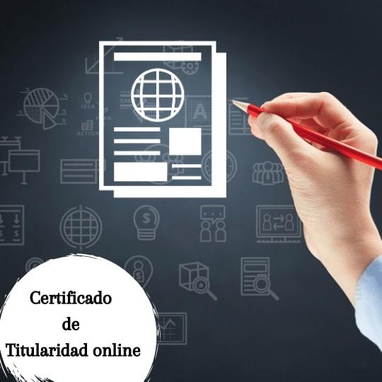Certificado de titularidad online
