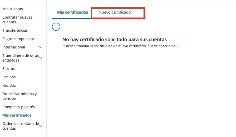 solicitar Nuevo Certificado de titularidad