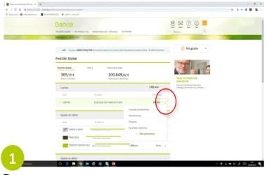 Certificado de titularidad bancaria Bankia